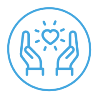 icon of two hands holding a heart