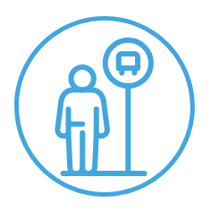 icon of a person waiting at a bus stop