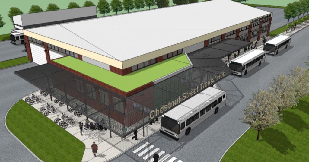Chestnut Street Transit Hub rendering